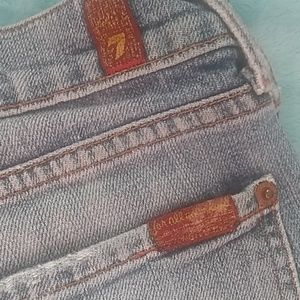 7 For All Mankind brand blue denim jeans